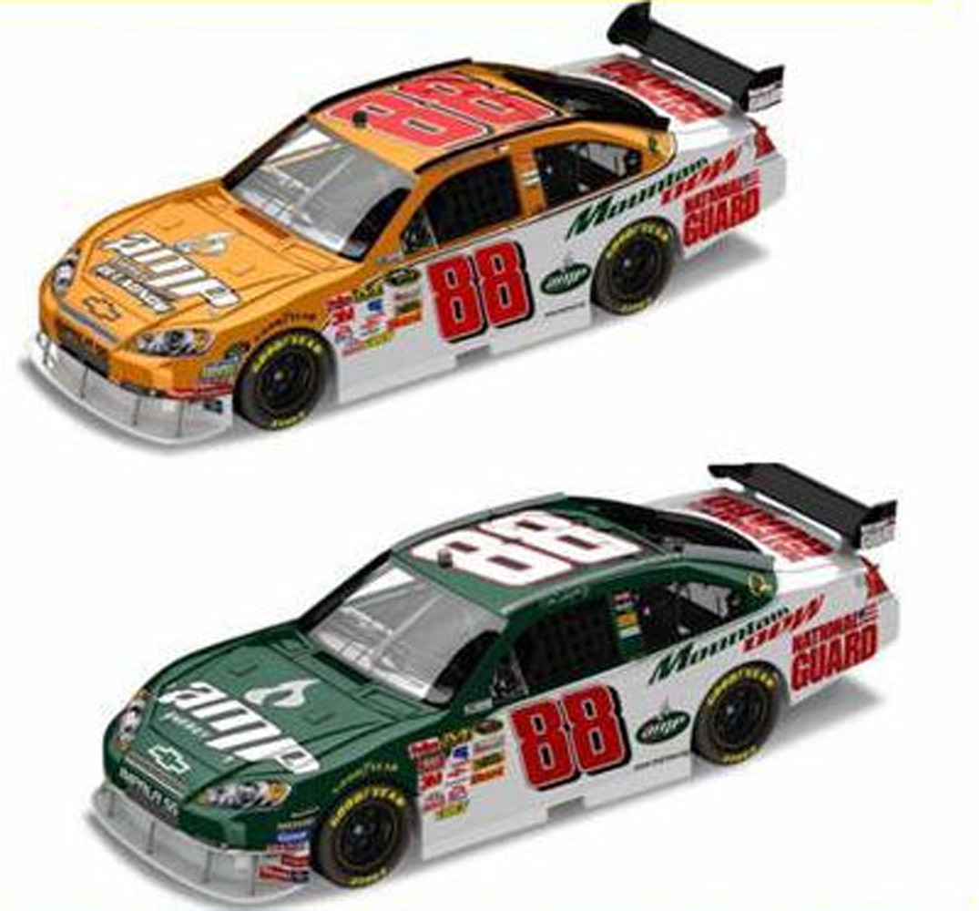 2008 Dale Earnhardt Jr #88 Orange Relaunch 2 Car 1/24 Set
