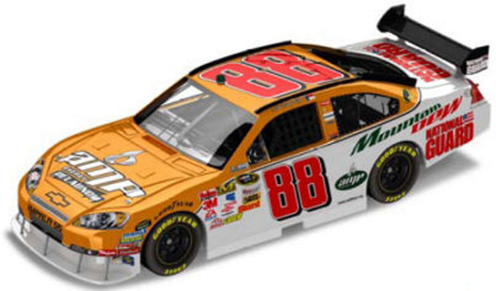 2008 Dale Earnhardt Jr #88 Orange Relaunch 1/24  Diecast Car