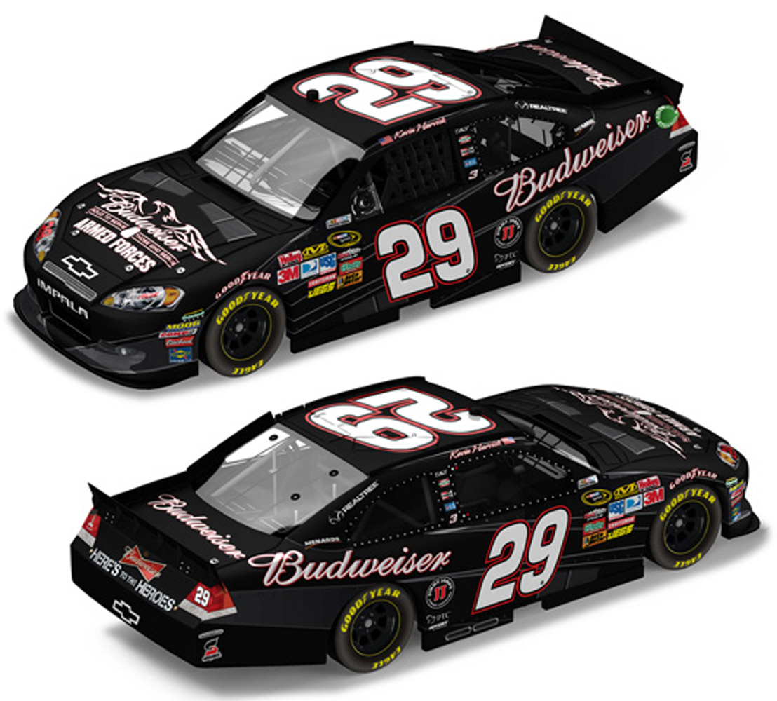 2011 Kevin Harvick #29 Bud Military Tribute 1/24 Diecast Car
