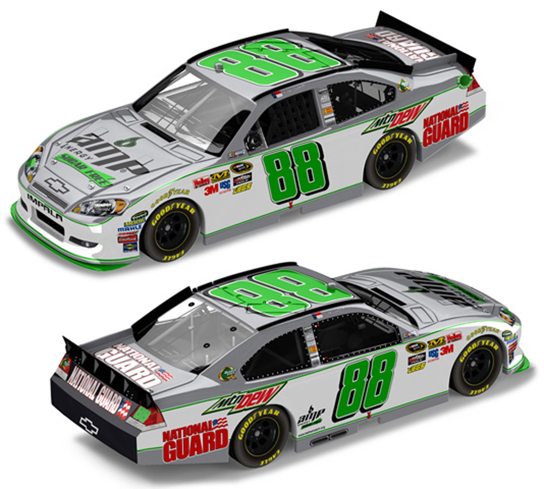 2011 Dale Earnhardt Jr #88 Amp Energy Sugar Free Diecast Car.