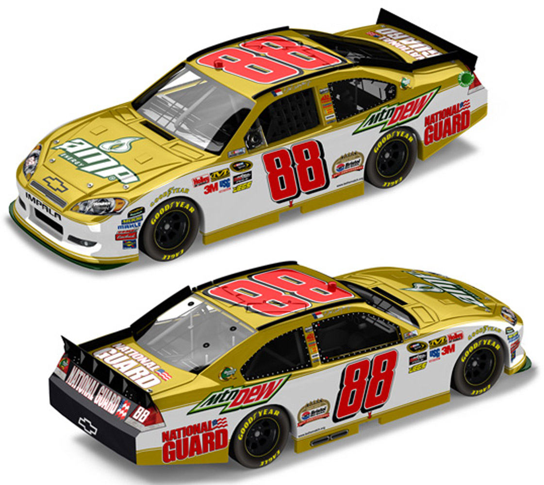 2011 Dale Earnhardt Jr #88 Amp Gold Bristol 50th Ann 1/24 Diecast Car
