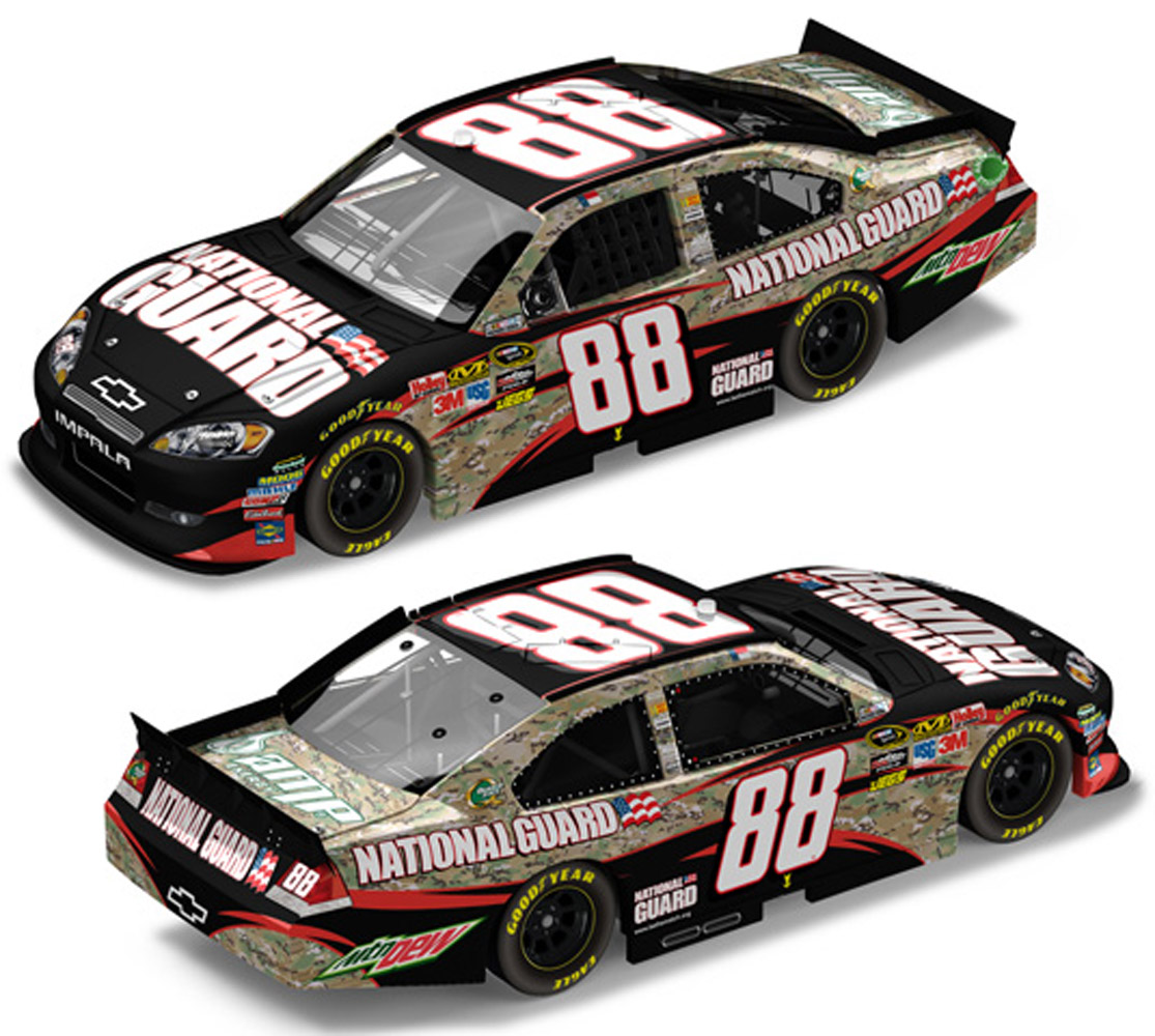 2011 Dale Earnhardt Jr #88 National Guard Heritage Diecast Car.