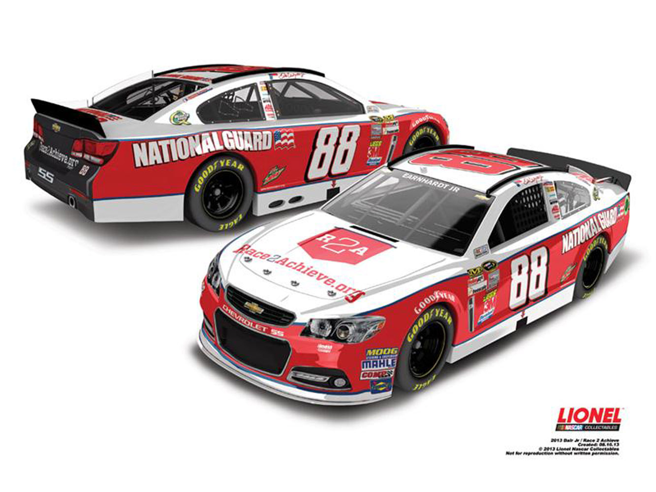 2013 Dale Earnhardt Jr #88 NG / Race2Achieve 1/24 Diecast Car