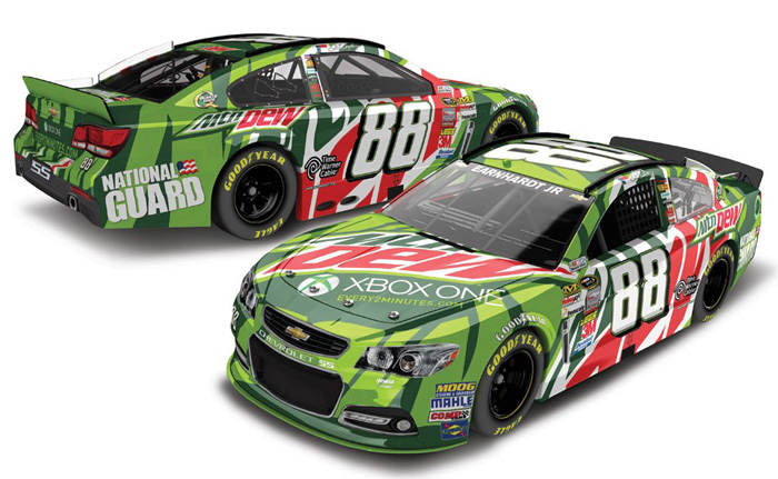 2013 Dale Earnhardt Jr  #88 Mountain Dew / Xbox One 1:24 Nascar Diecast Car