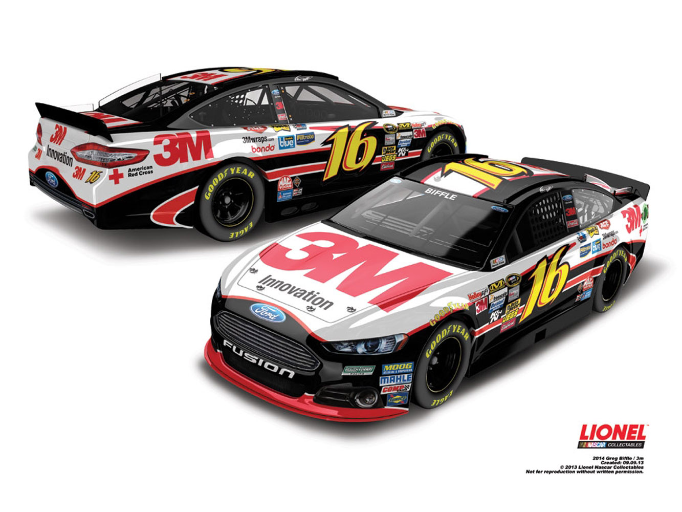 2014 Greg Biffle #16 3M 1:64 Diecast Car