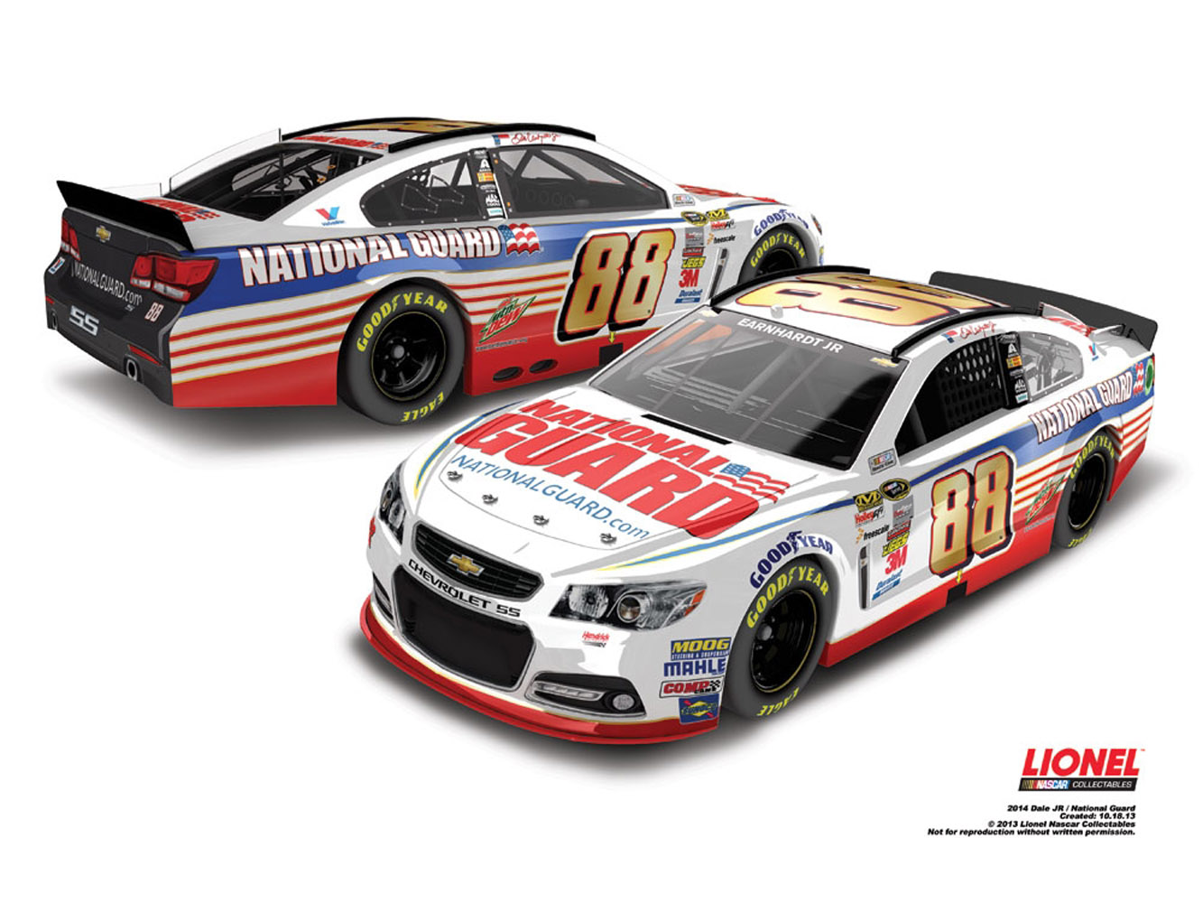 2014 Dale Earnhardt Jr #88 National Guard 1/24 Diecast Car