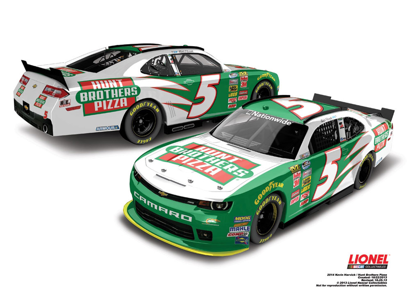 2014 Kevin Harvick #5 Hunt Brothers Pizza 1:64 Diecast Car