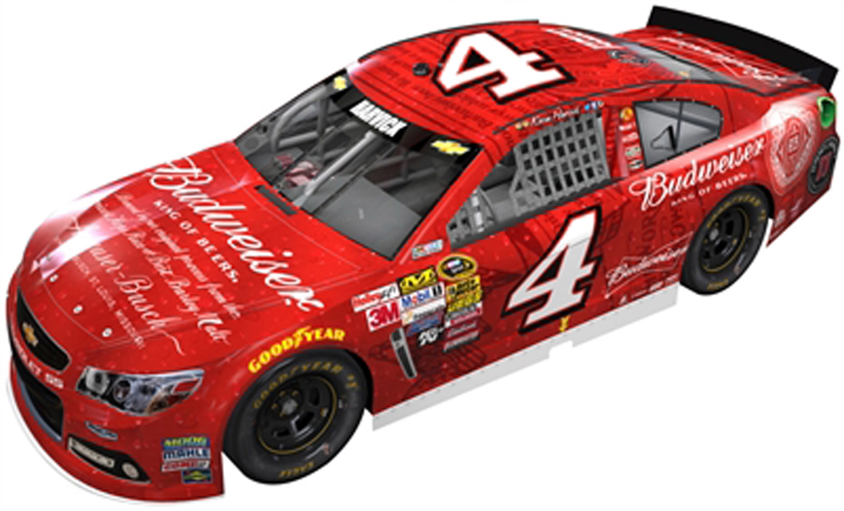 2014 Kevin Harvick #4 Budweiser Aluminum Bottle 1:24 Diecast Car