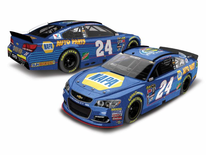 2016 Chase Elliott #24 Napa Rookie of the Year Galaxy Finish 1:24 Diecast Car