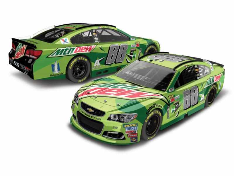 2017 Dale Earnhardt Jr #88 Mountain Dew 1:24 Diecast Car