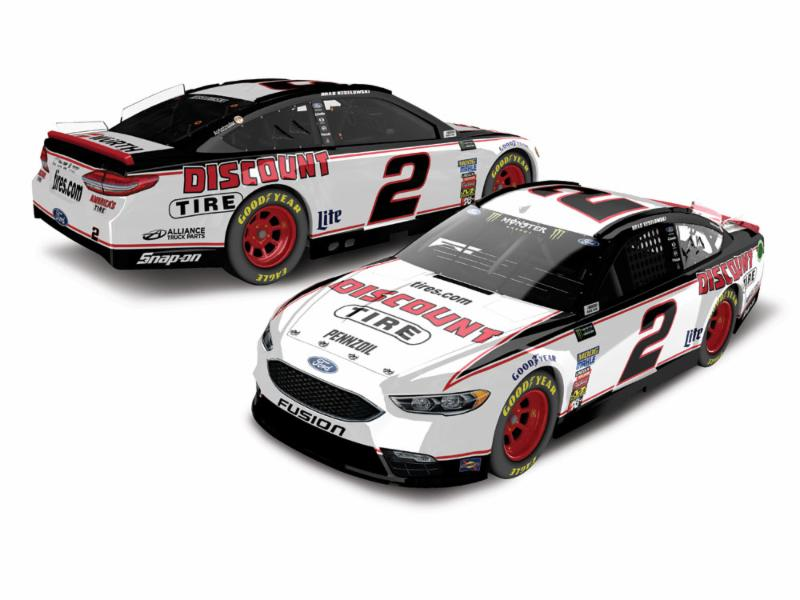 Discount Tire Nascar >> 2018 Brad Keselowski #2 Discount Tire HO Color Chrome 1:24 Diecast Car - ADCdiecast.com ...