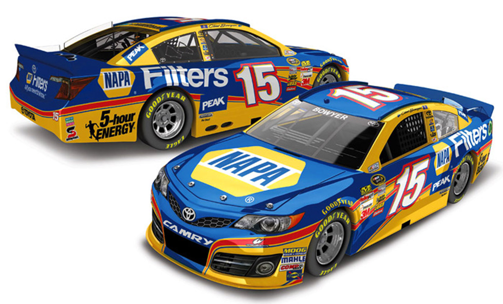 2013 Clint Bowyer #15 NAPA Filters 1:24 Diecast Car