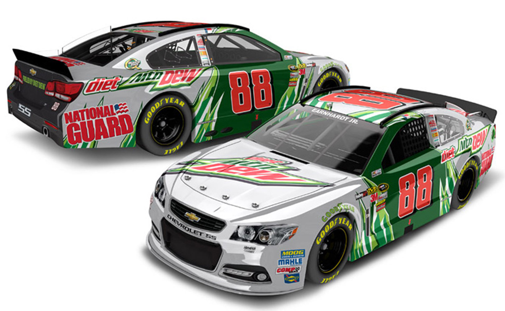 2013 Dale Earnhardt Jr #88 Diet Mountain Dew 1/24 Diecast Car.