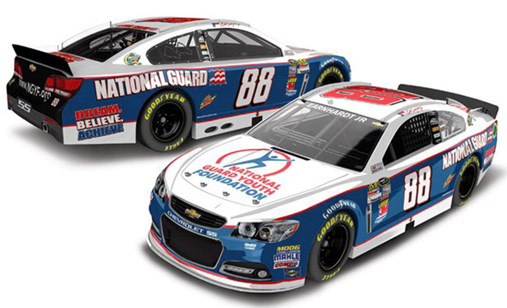 2013 Dale Earnhardt Jr #88 N / G Youth Foundation 1:24 Diecast Car