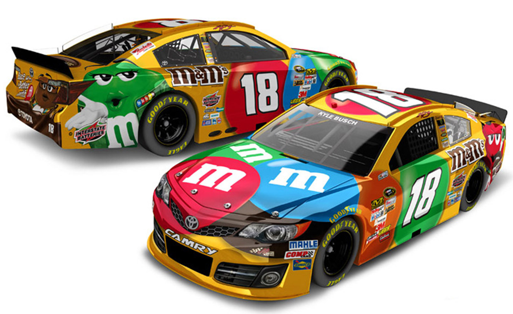 2013 Kyle Busch #18 M&M's 1:24 Diecast Car