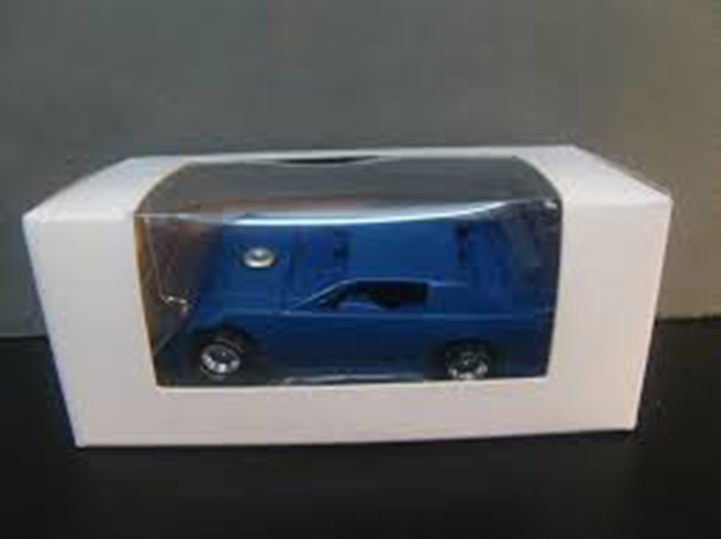ADC Dirt Late Model Blank Blue Body Black Chassis 1/64 scale Car