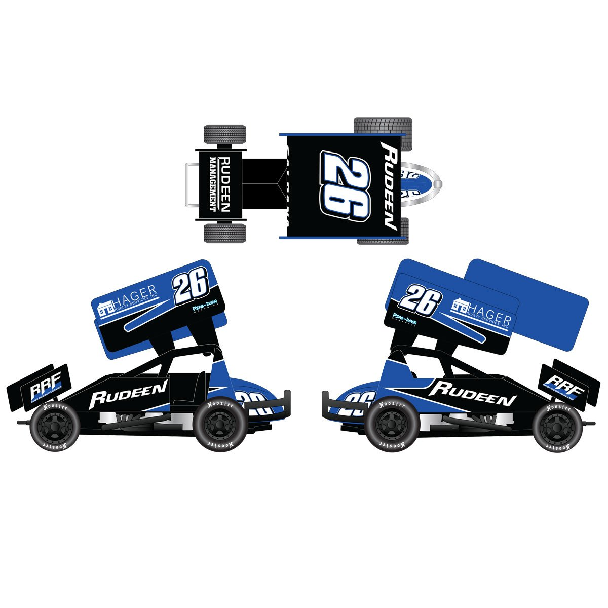 2018 Joey Saldana #26 Rudeen Racing 1/64 DieCast Sprint Car.