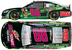2014 Dale Earnhardt Jr #88 Mountain Dew Kick Start 1/24 Diecast Car