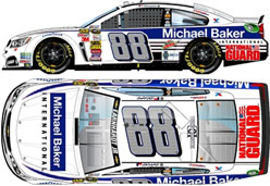 2014 Dale Earnhardt Jr #88 Michael Baker International 1/24 Diecast Car