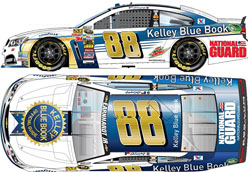 2014 Dale Earnhardt Jr #88 Kelly Blue Book 1/24 Diecast Car