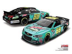 2015 Dale Earnhardt Jr #88 Mountain Dew Baja Blast 1/24 Diecast Car