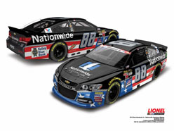 2015 Dale Earnhardt Jr #88 Nationwide American Salutes 1:24 Diecast Car