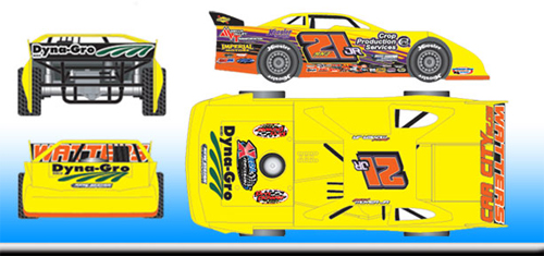 2016 Billy Moyer Jr #21 Dirt Late Model 1/24 Diecast Car
