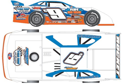 2016 Steve Casebolt c9 1/24  Dirt Late Model Diecast Car.