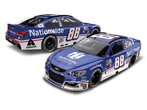 2017 Dale Earnhardt Jr #88 Nationwide Darlington Throwback 1:24 Diecast Car.