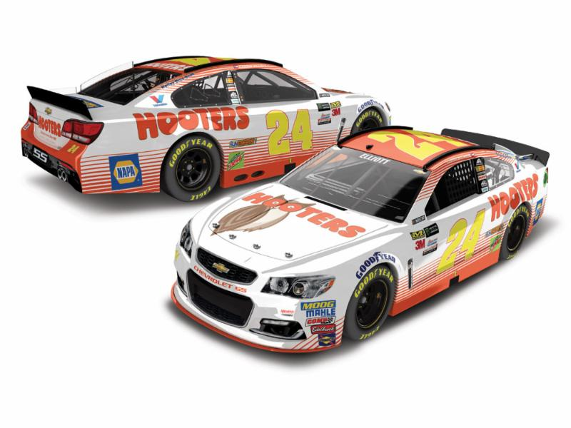 2017 Chase Elliott #24 Hooters  1:24 Diecast Car
