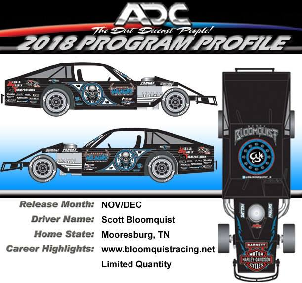 2018 Scott Bloomquist #0 Modified 1/24 Diecast Car.