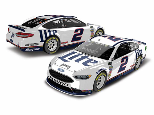 2018 Brad Keselowski #2 Miller Lite HO Color Chrome 1:24 Diecast Car