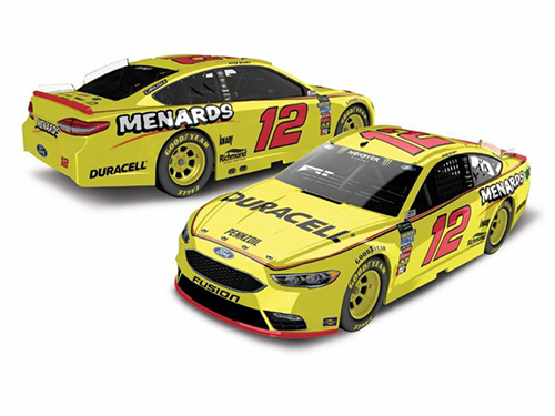 2018 Ryan Blaney #22 Duracell Menards 1:64 Diecast Car