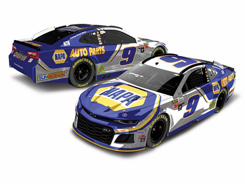 2018 Chase Elliott #9 Napa 1:24 HO Color Chrome Diecast Car