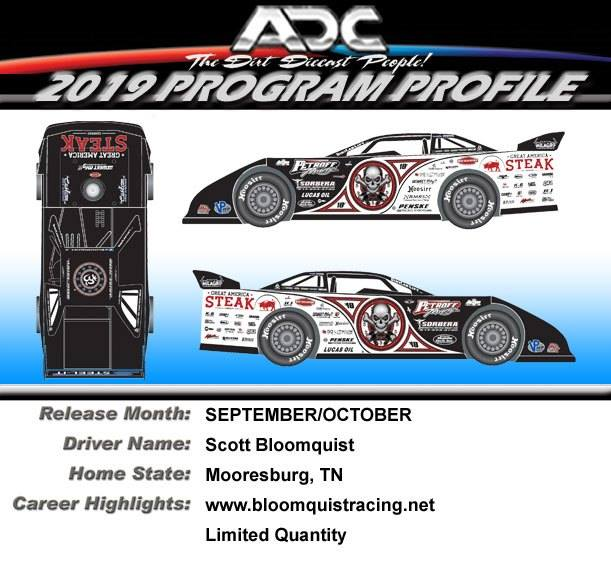 2019 Scott Bloomquist #0 Steak Dirt Late Model 1/64 Diecast Car