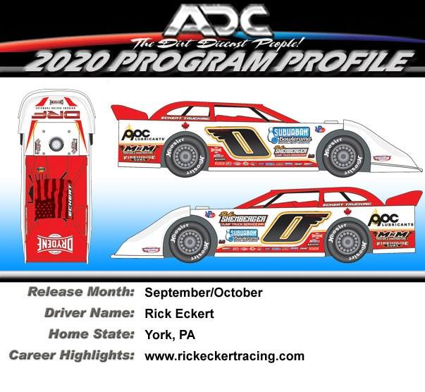 2020 RICK ECKERT #0 1/24 Dirt Late Model Diecast Car.