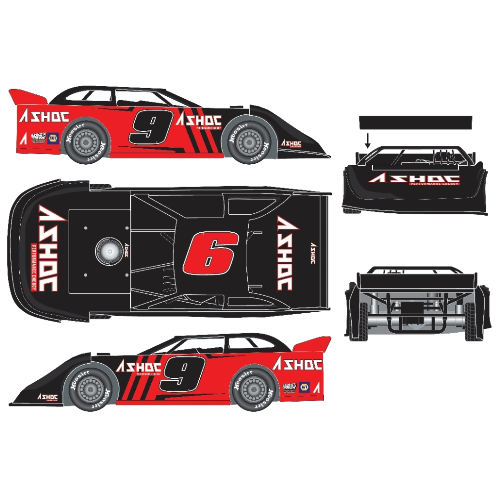 2021 Chase Elliott #9 Ashloc Dirt Late Model 1:24 Diecast Car