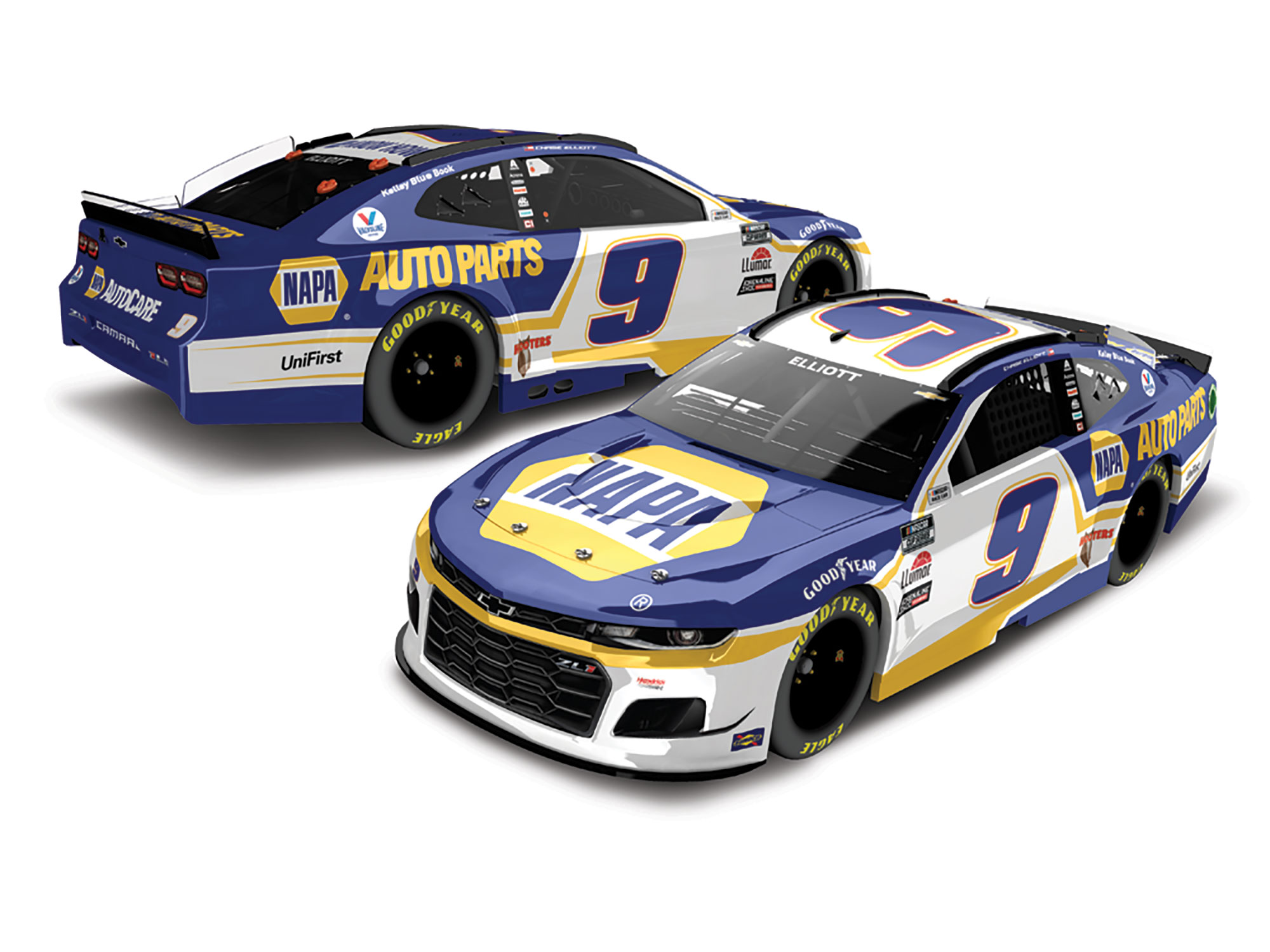 2021 Chase Elliott #9 Napa Auto Parts 1:24 Elite Nascar Diecast Car