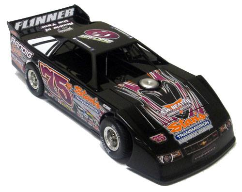 ADC Red Series. 2017 COLTIN FLINNER #75 Dirt Late Model 1/24 Diecast