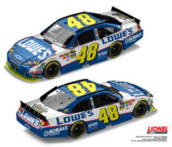 2010 Jimmie Johnson Lowes 5 Time Champ 1/24 Diecast Car.