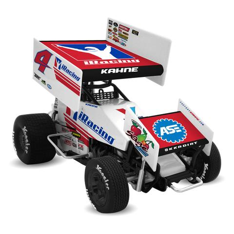 2017 Kasey Kahne #4 iRacing 1/18 DieCast Sprint Car.