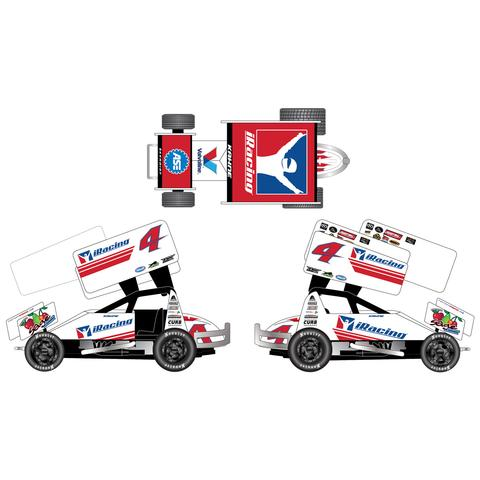 2017 Kasey Kahne #4 iRacing 1/64 DieCast Sprint Car.