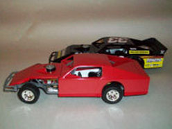 ADC Dirt Modified Blank - Red Body and Black Chassis 1/24 scale Car.